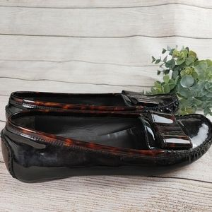 Stuart Weitzman Patent Leather Gill Loafer Flats Tortoise shell Brown Black  8